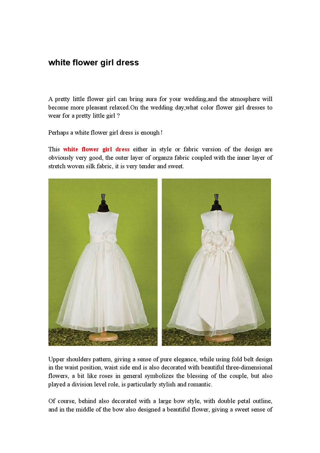 White Flower Girl Dress By Kate One Issuu