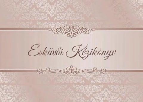 """Cover of """"Esküvői kézikönyv 7 évf 2 lapszám total verzió"""""""