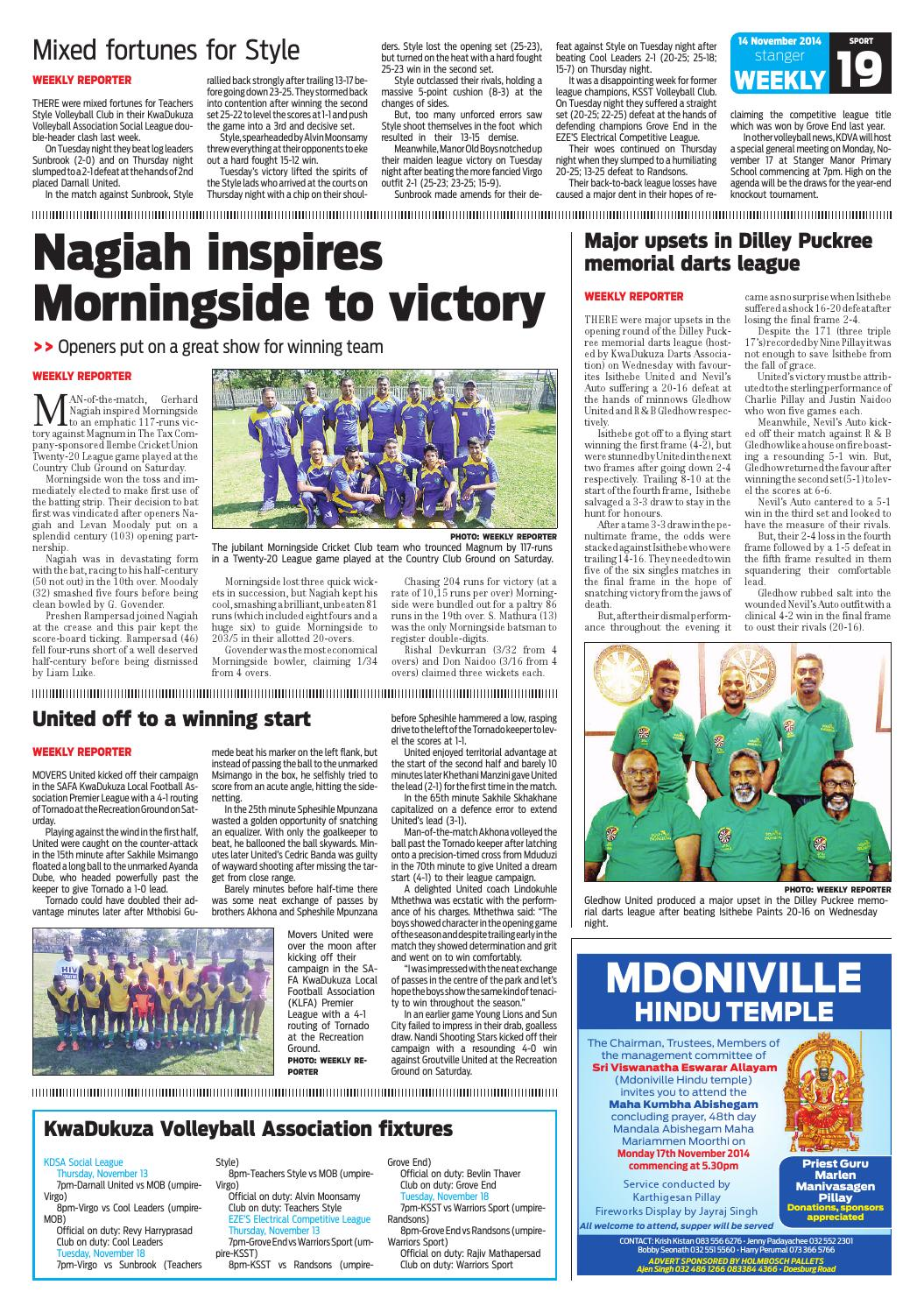 Stanger weekly 12 nov 2014 by Stanger Weekly - issuu