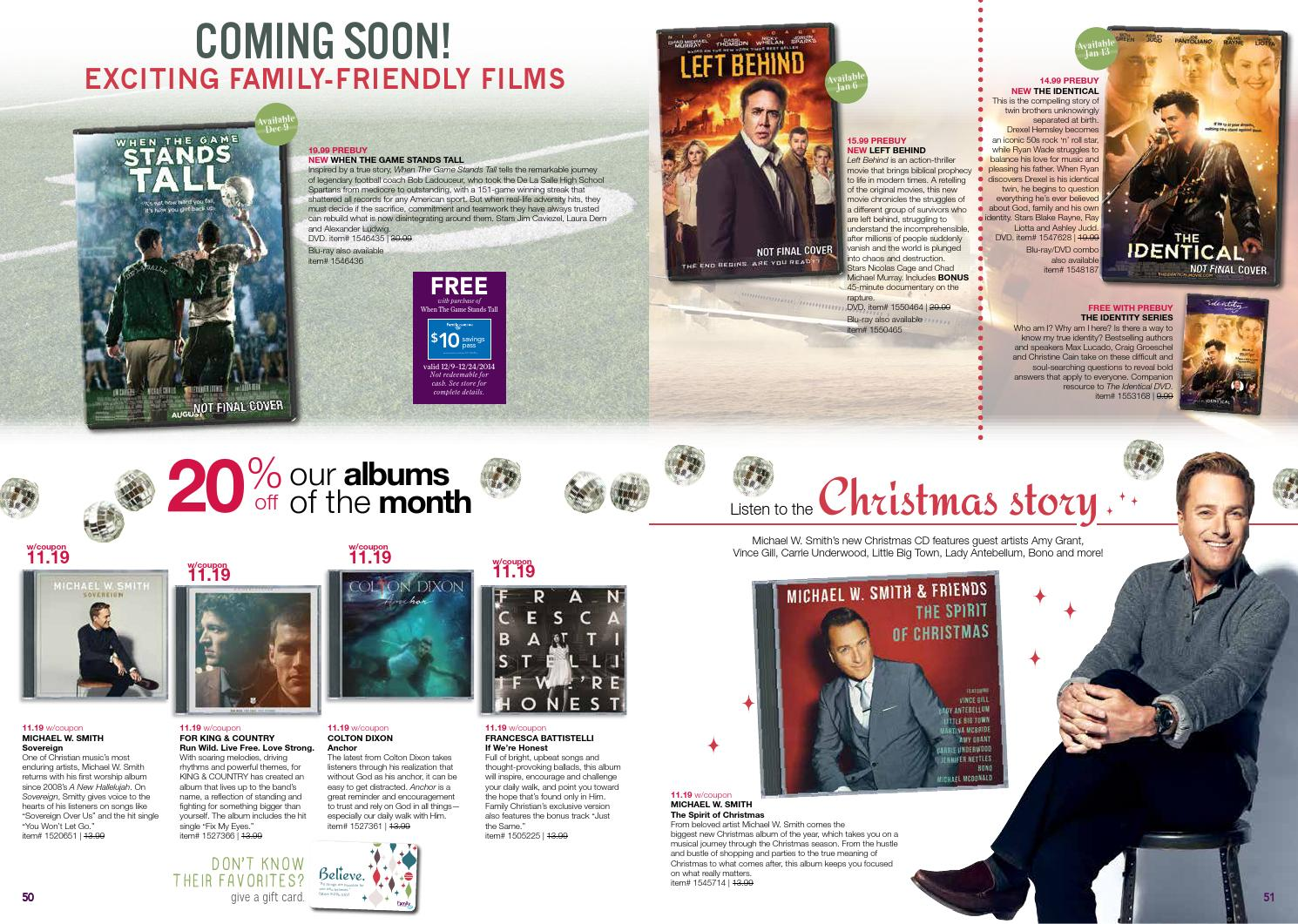 family christian christmas 2 catalog by family christian stores issuu - For King And Country Christmas Album