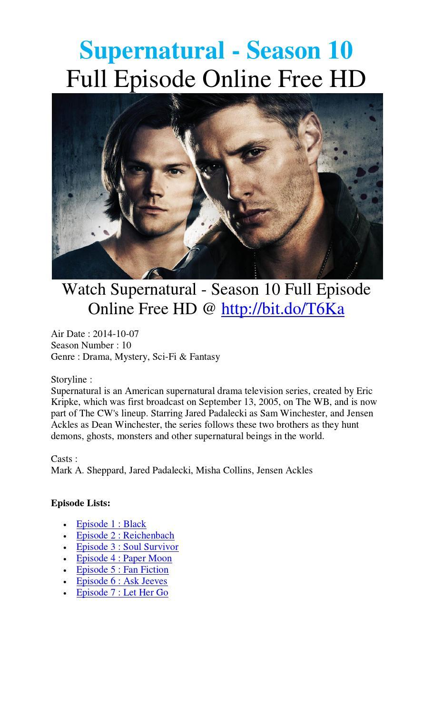 watch supernatural season 10 episode 4 free