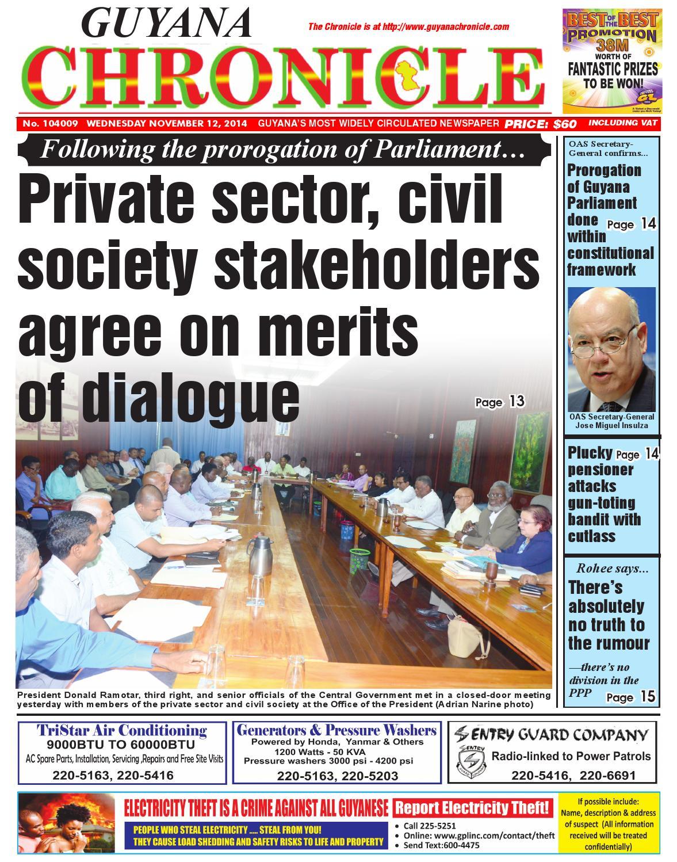 Guyana chronicle 12 11 14 by Guyana Chronicle E-Paper - issuu