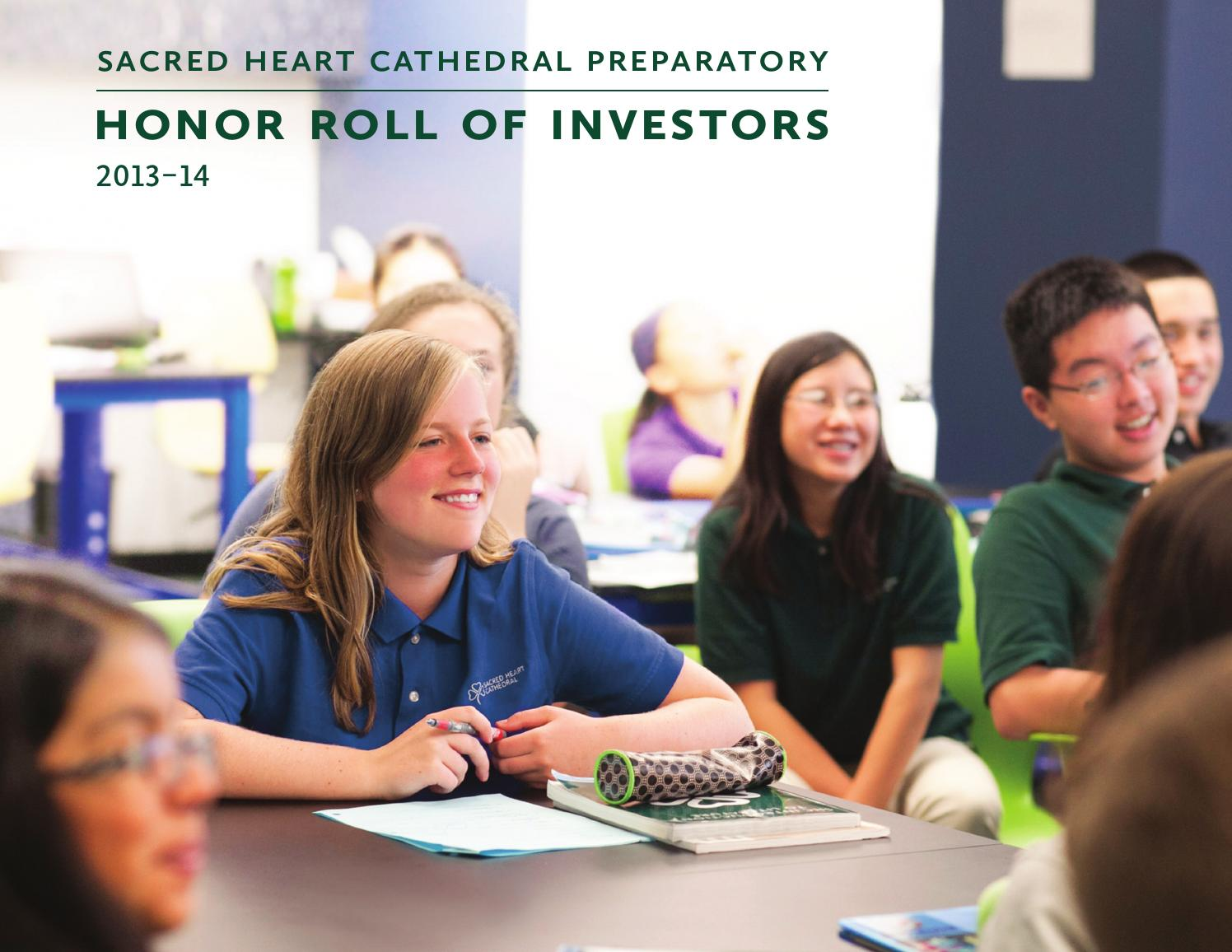 a3b2d4a26655 Honor Roll of Investors 2013-14 by SHCinSF - issuu