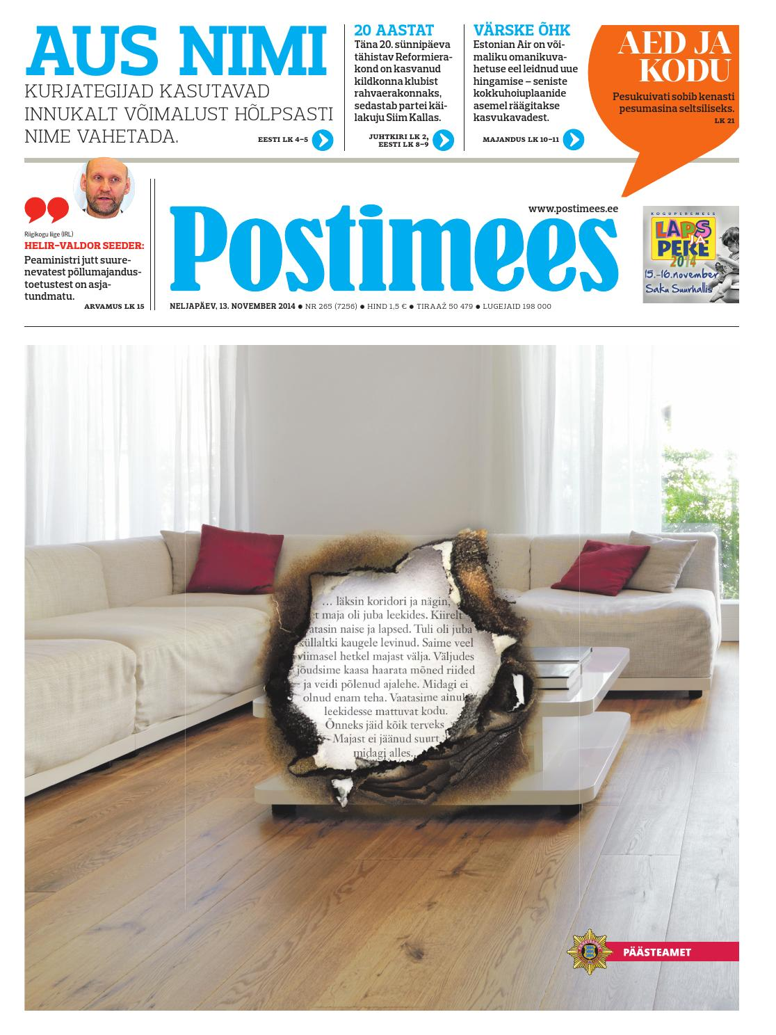 15350876a85 Postimees 13 11 2014 by Postimees - issuu