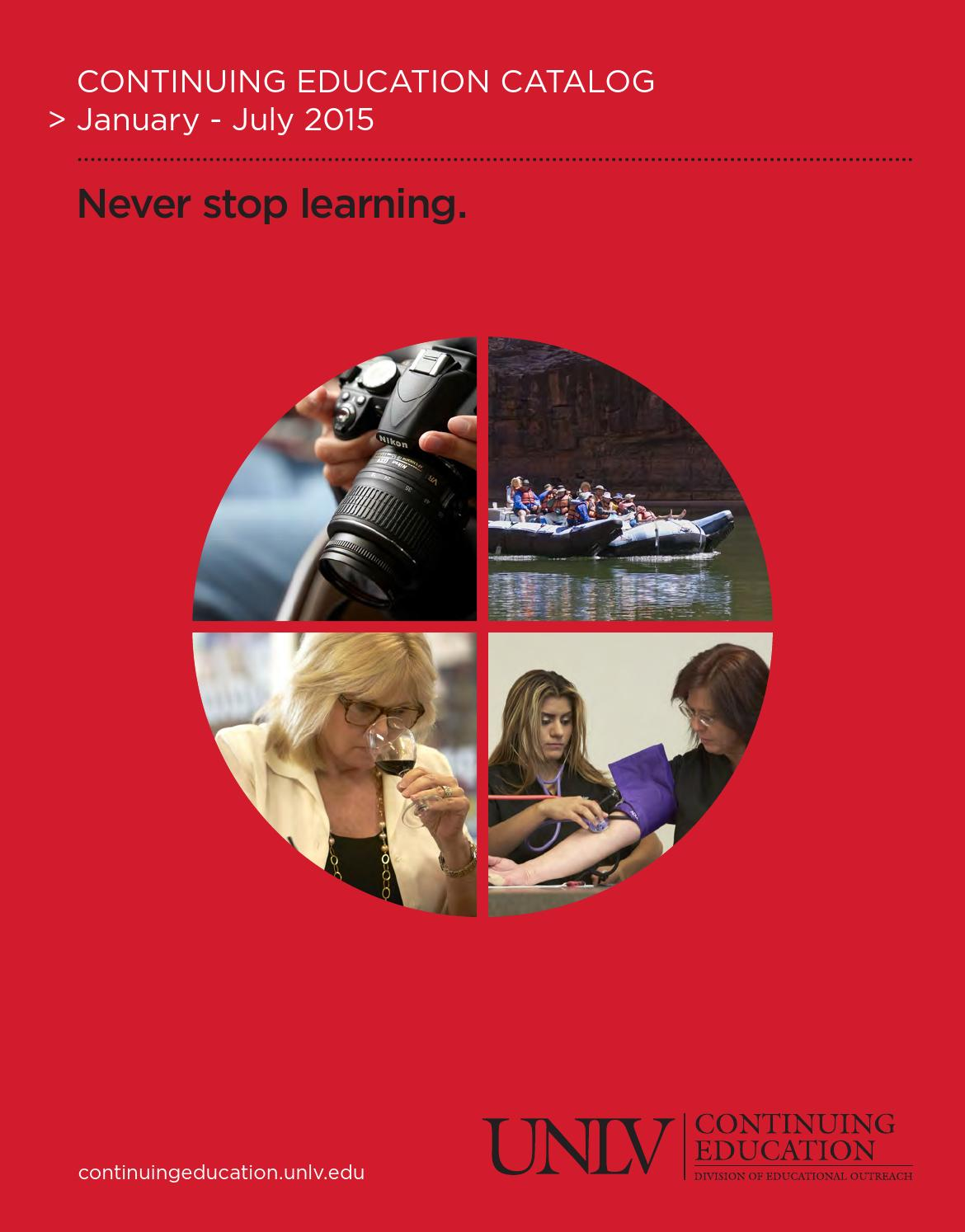 Unlv Continuing Education Catalog Jan July 2015 By Unlv Division Of Educational Outreach Issuu Sell textbooks back for cash! issuu