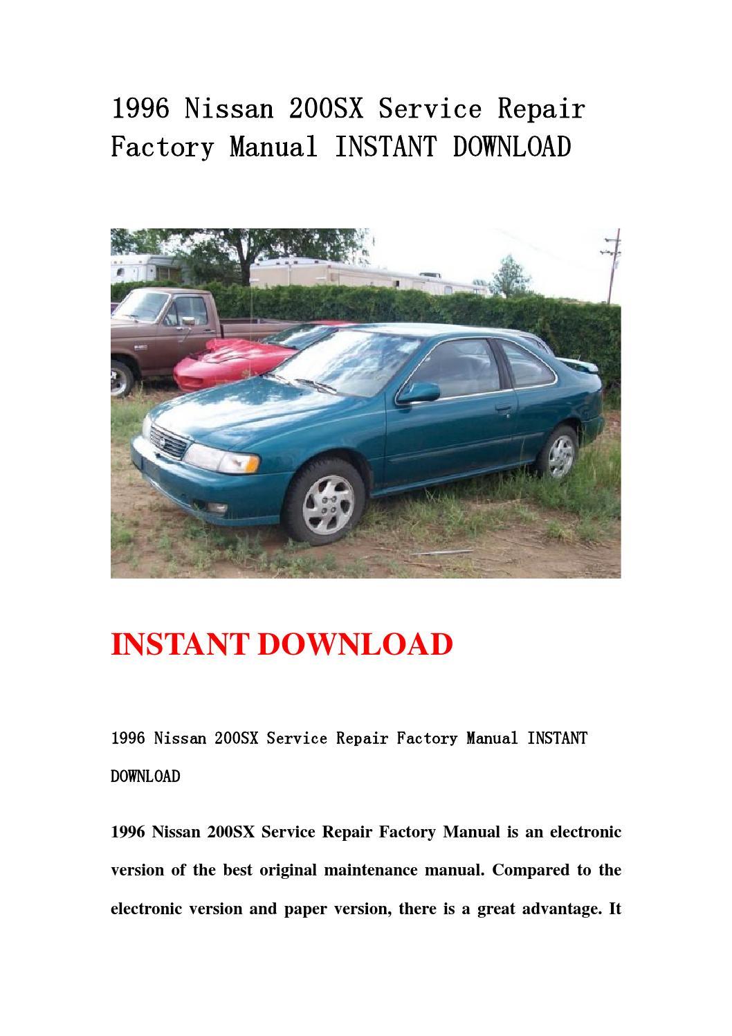 1996 nissan 200sx service repair factory manual instant. Black Bedroom Furniture Sets. Home Design Ideas