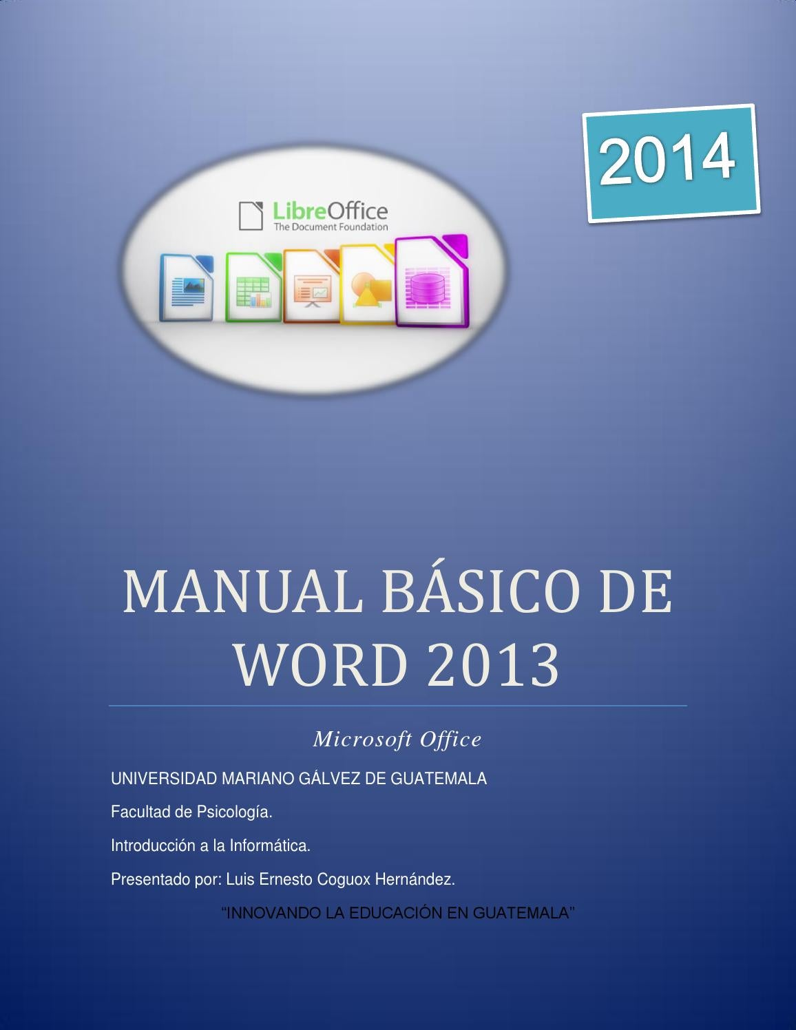 Manual básico de word 2013 by Luis Coguox - issuu