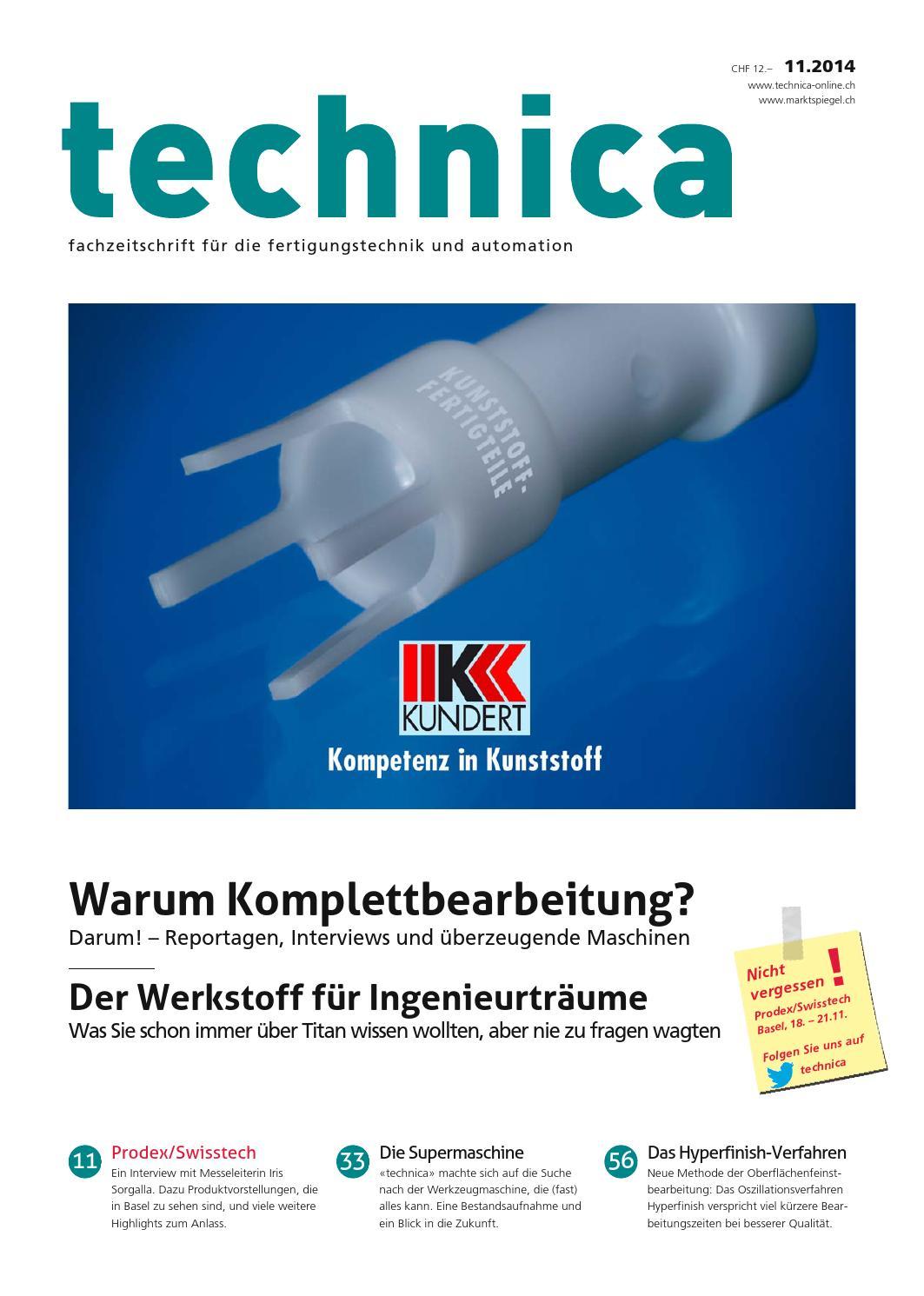 Technica 11/2014 by AZ Fachverlage AG - issuu