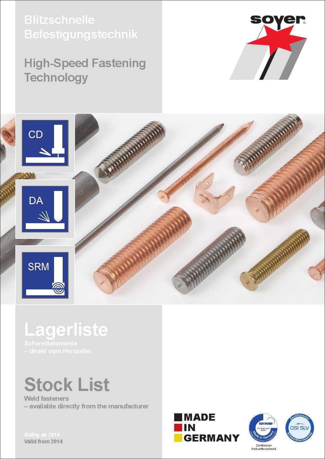 ISO13918-1 SZ M 4x12 Stahl verkupfert Schweißbolzen mit Spitzenzündung
