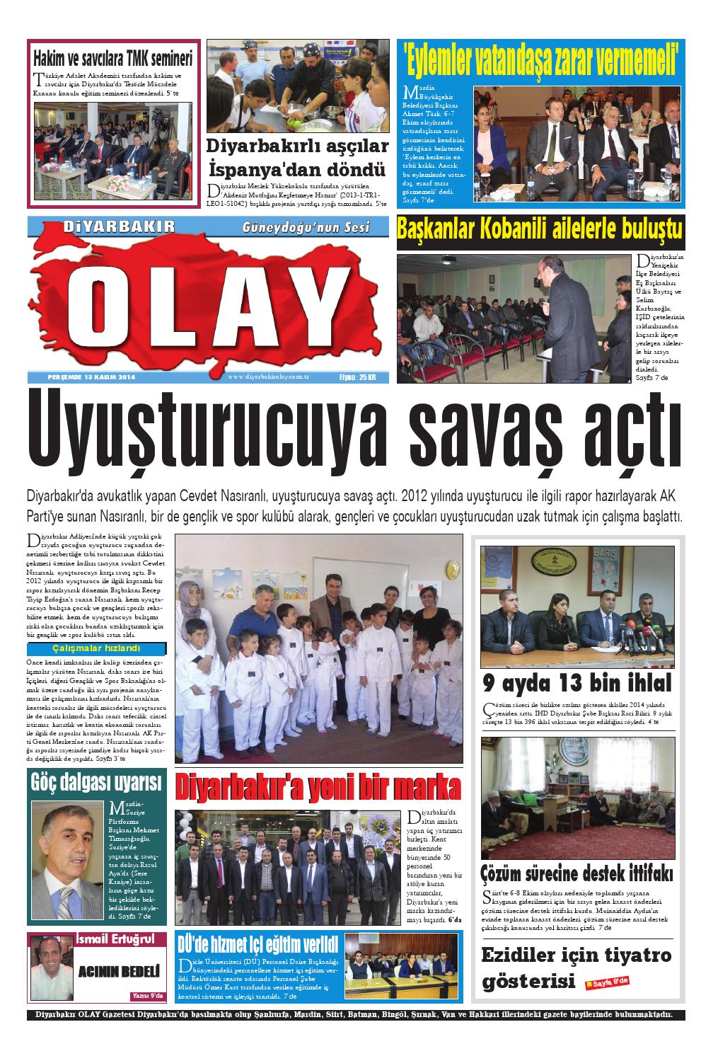 13 11 2014 Gazete Sayfalari By Diyarbakir Olaygazetesi Issuu