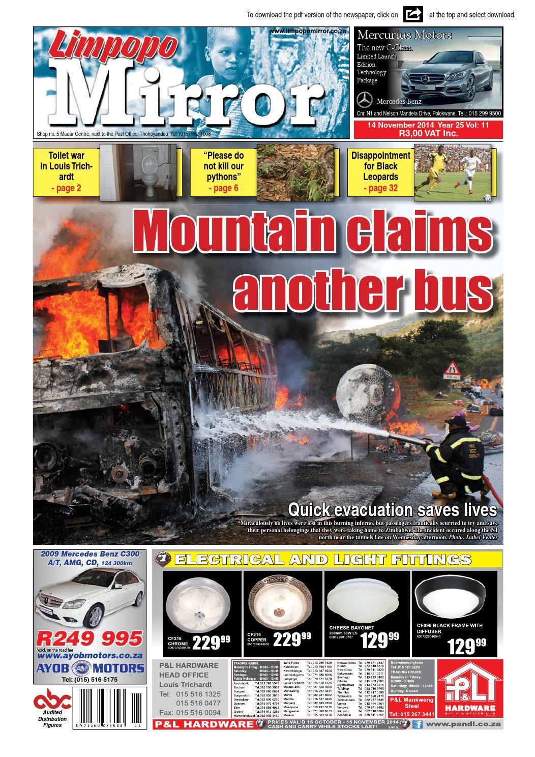 14 November 2014 - Limpopo Mirror by Zoutnet - issuu