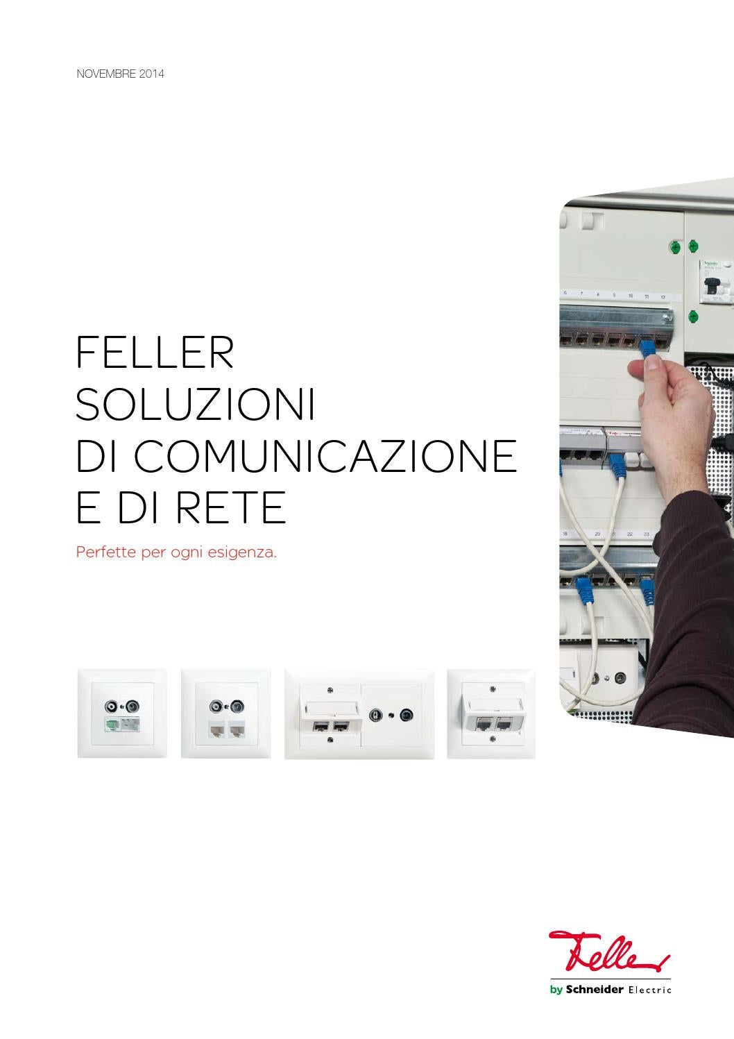 Schema Cablaggio Rete : Manuale di sistema soluzioni di comunicazione e di rete by feller ag