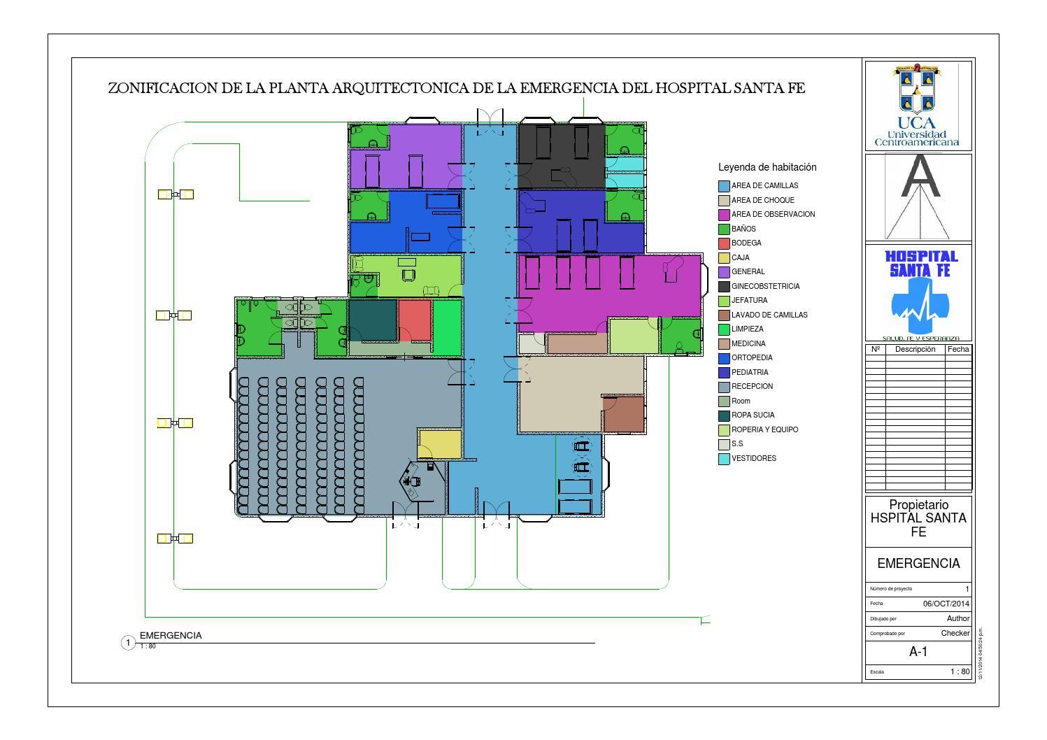Zonificacion de la planta de emergencia by ariel calero for Zonificacion arquitectonica