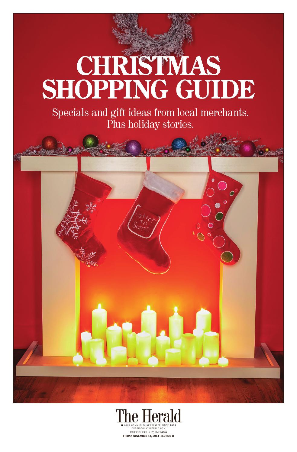 Christmas Shopping Guide 2014 by The Herald - issuu