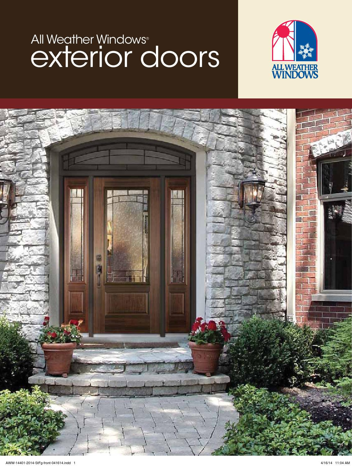 Entry Door Catalogue By All Weather Windows Issuu