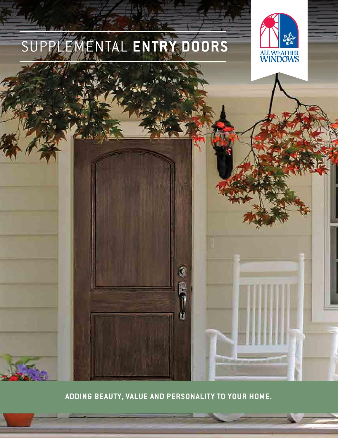 Supplemental Entry Door Catalogue By All Weather Windows Issuu