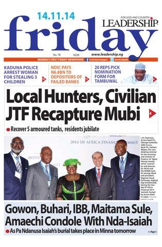 Leadership News By Leadership Newspaper Issuu