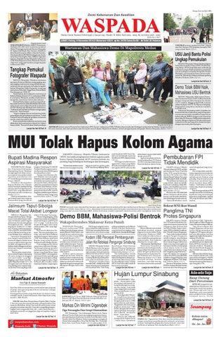 waspada, jumat 14 november 2014 by harian waspada issuuDajal Mati Tercekik Biji Durian #4