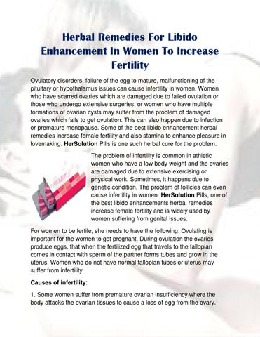 Herbal Remedies For Libido Enhancement In Women To Increase