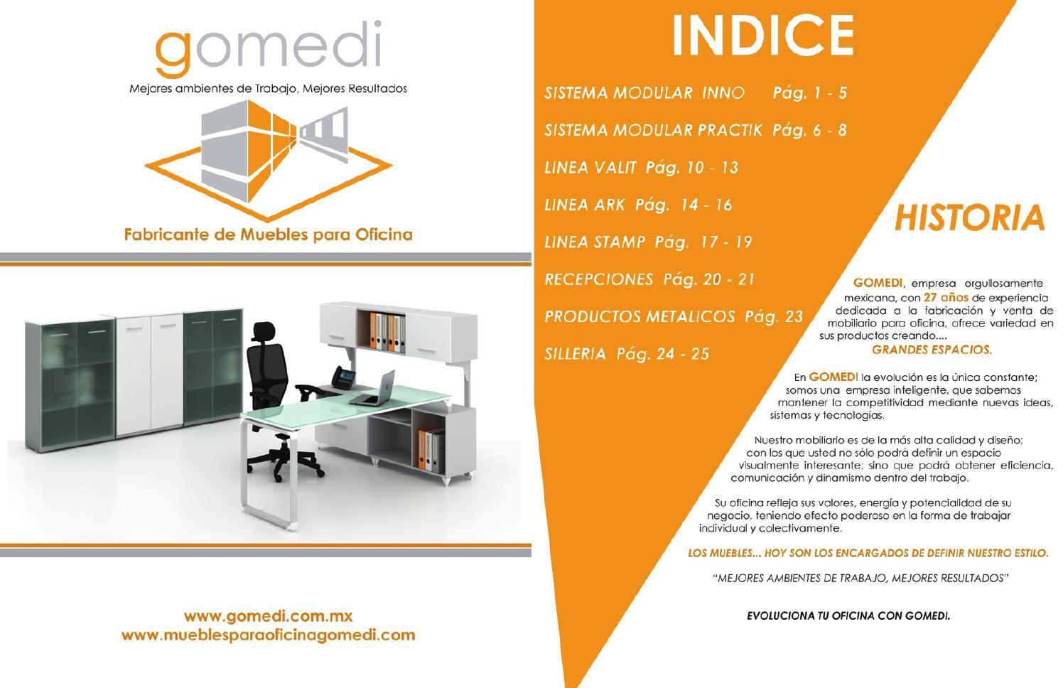 Cat logo digital muebles para oficina gomedi by gomedi s a - Muebles de oficina catalogo ...