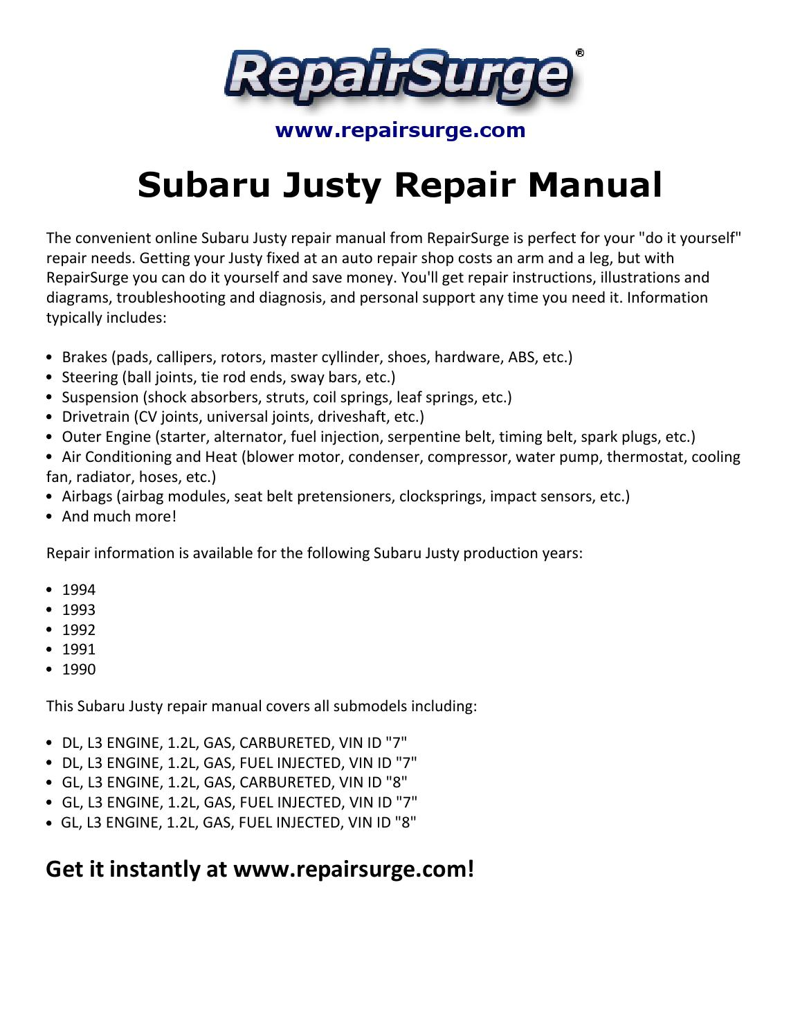 Justy Engine Diagram Free Wiring For You 88 Subaru Gl Rh 3 10 2 Carrera Rennwelt De 1988 Funny