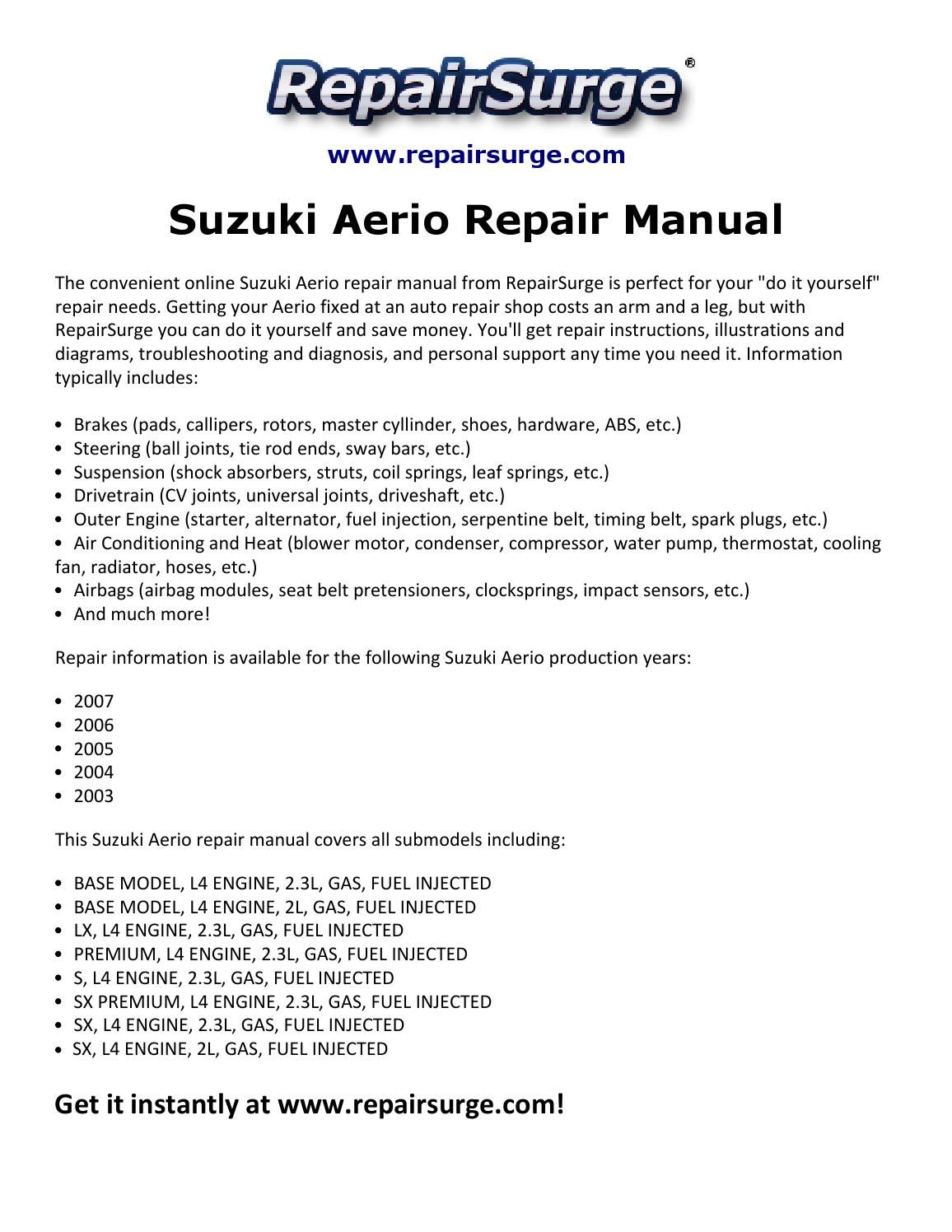 2003 Suzuki Aerio Engine Diagram Car Pictures