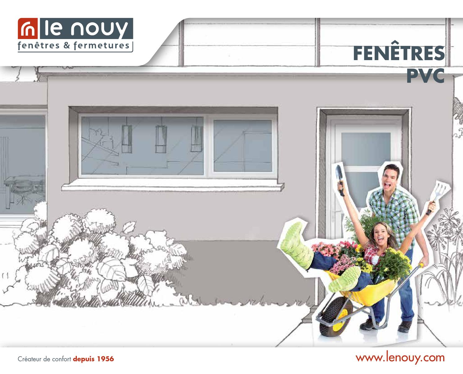 Catalogue menuiserie pvc by lenouy issuu for Bloquer ouverture fenetre pub chrome