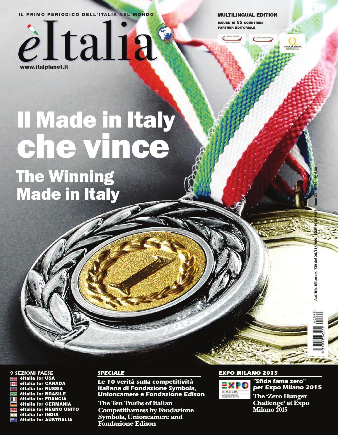 èitalia 99 – Il Primo Periodico dell Italia nel Mondo by èItalia - issuu 380c629b263