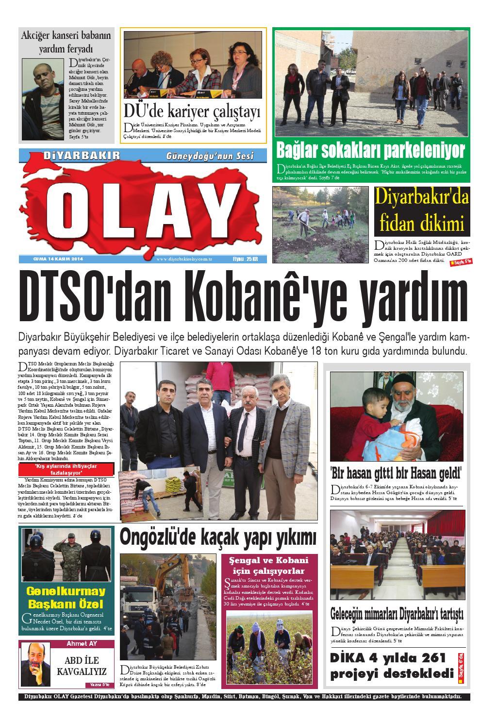 14 11 2014 Gazete Sayfalari By Diyarbakir Olaygazetesi Issuu