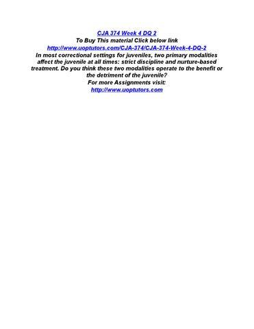 CJA 454 UOP Course/ShopTutorial