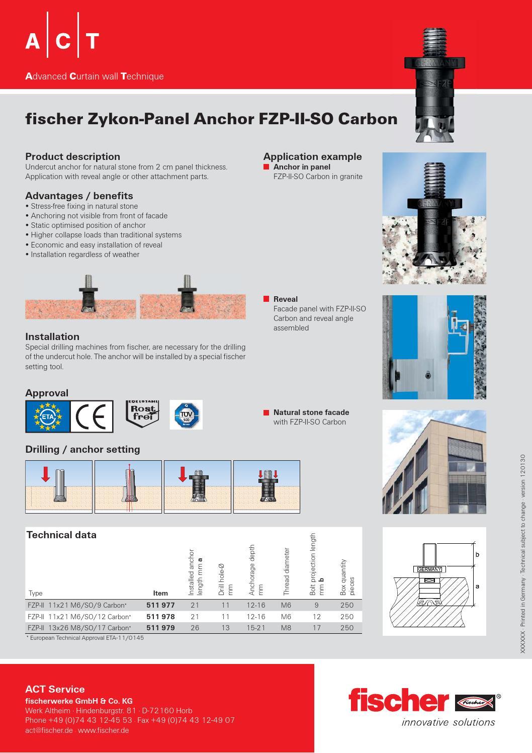 Data Sheet Fischer Fzp Ii So Carbon By Фишер Крепежные