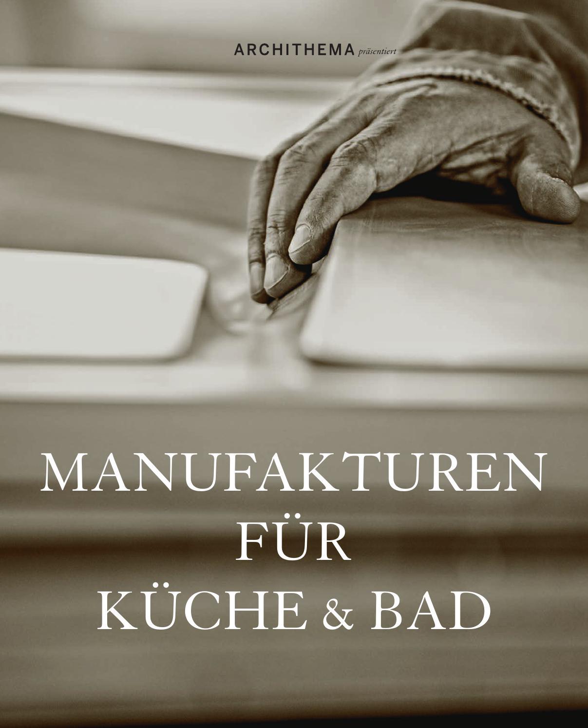 Manufakturen für Küche & Bad 2014 by Archithema Verlag - issuu