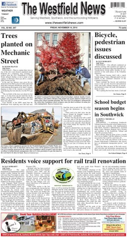Friday November 14 2014 By The Westfield News Issuu