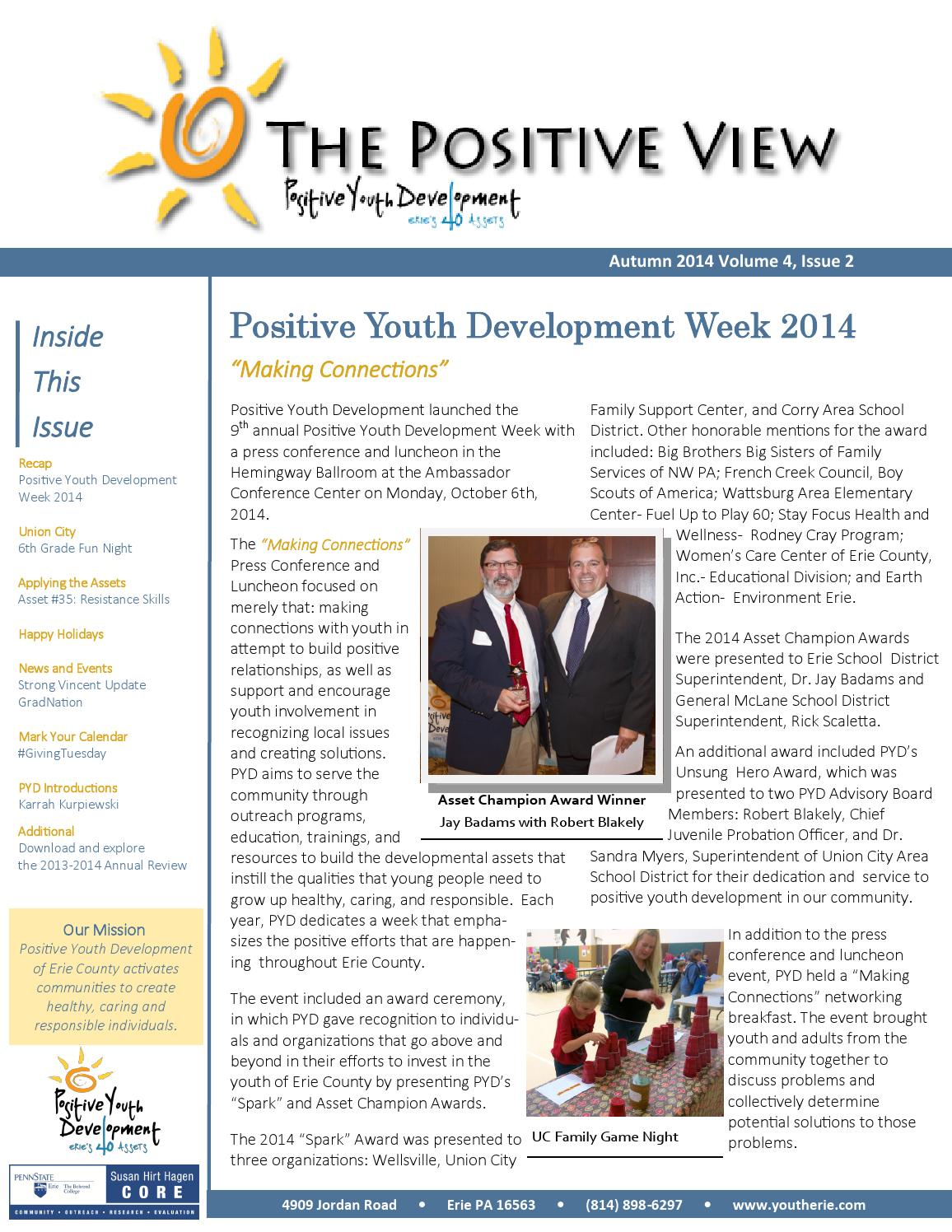 The Positive View, Autumn 2014 by Positive Youth Development of Erie ...
