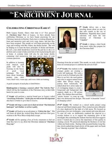 The Enrichment Newsletter Octnov 2014 By Matt Northrop Issuu