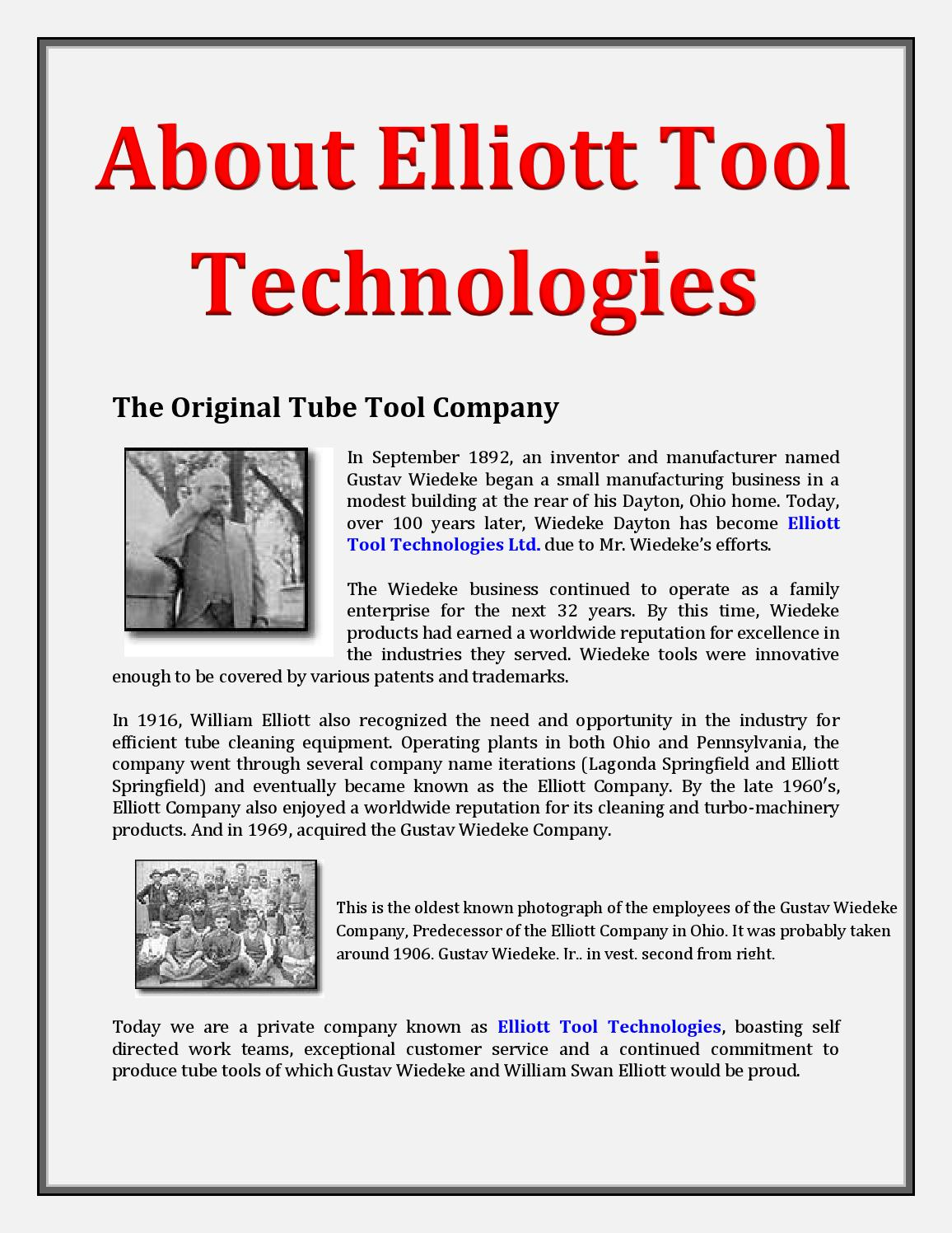 About Elliott Tool Technologies By Fenellasparks Issuu
