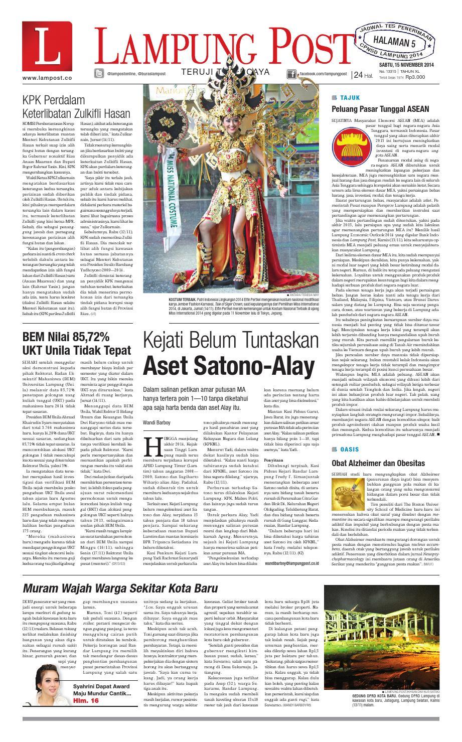Lampung Post Sabtu 15 November 2014 By Issuu Produk Ukm Bumn Box Hantaran Pengantin Bio Art
