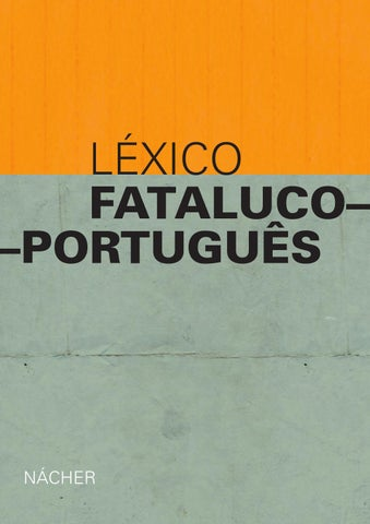 Léxico Fatalucoportuguês By Incidentadoc Issuu