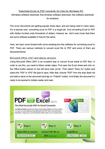 Download excel to pdf converter for free for windows pc by SoftMozer