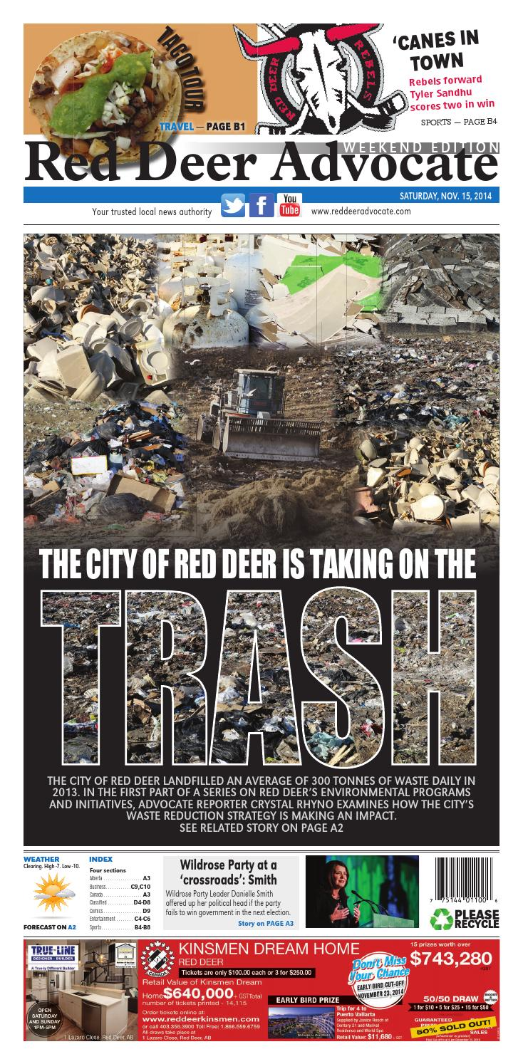 Red Deer Advocate, November 14, 2014 by Black Press Media