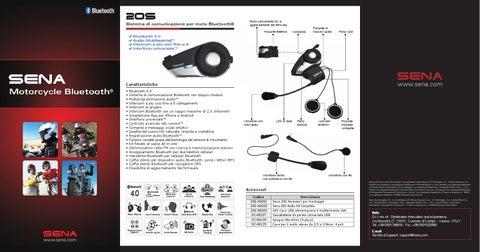 Sena SC-A0124 Cavo 3.5 mm Stereo Jack a 6 Pin DIN per Sistemi Audio BMW K1200LT