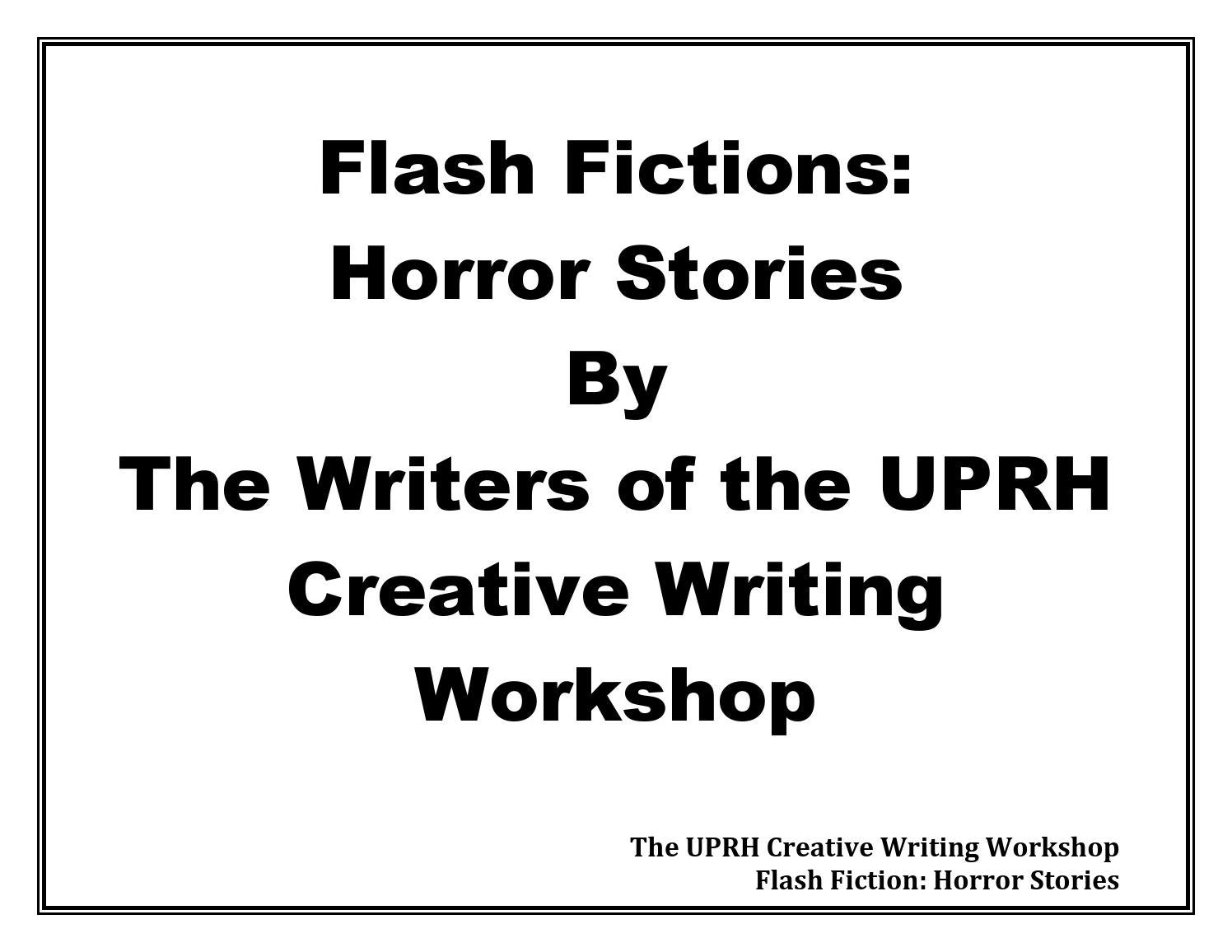 20 Horror Writing Prompts