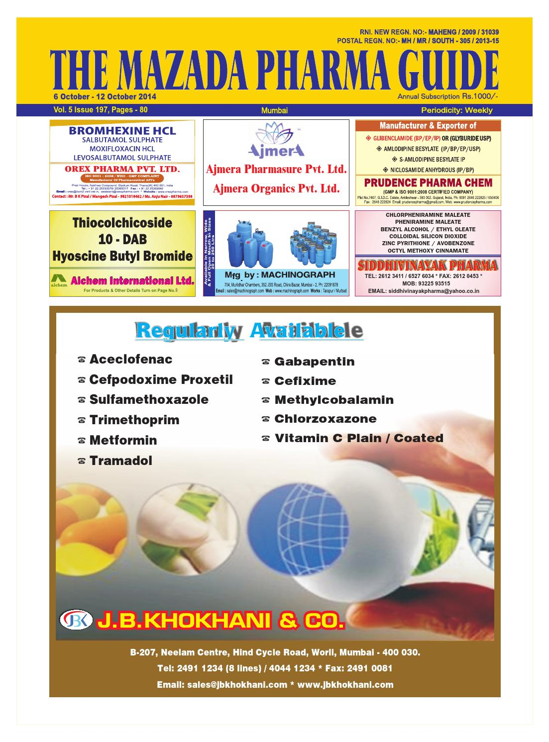 The mazada pharma guide 6th oct 12th oct 2014 by The Mazada