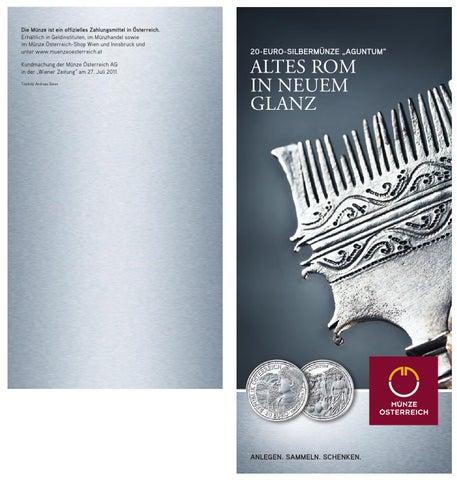 Auf Der 20 Euro Silbermünze Aguntum Wird Antike Lebendig By Münze