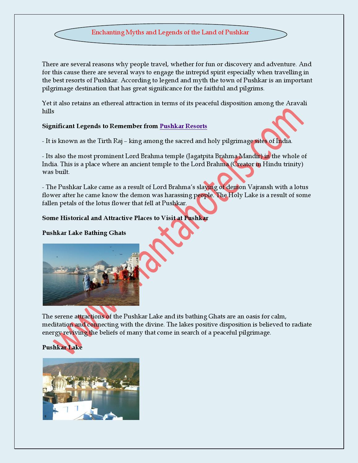 Enchanting myths and legends of the land of pushkar by vertexplus enchanting myths and legends of the land of pushkar by vertexplus technologies issuu izmirmasajfo