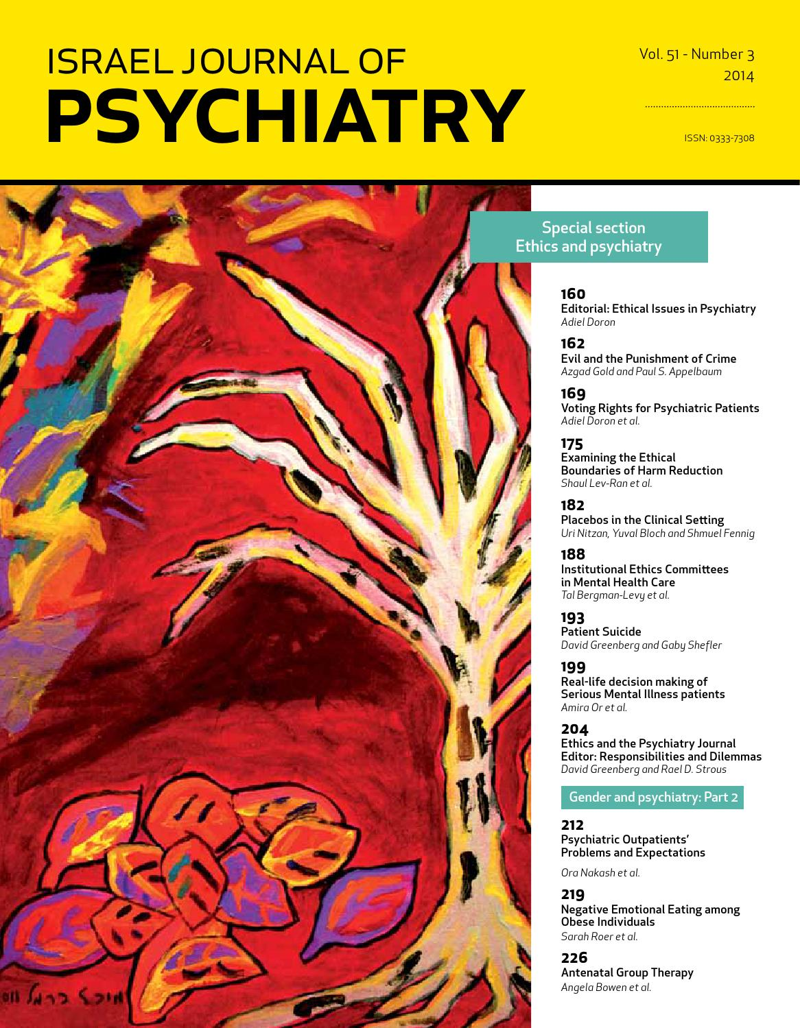 Ijp israel journal of psychiatry vol 51 issue 3 by medic issuu fandeluxe Image collections
