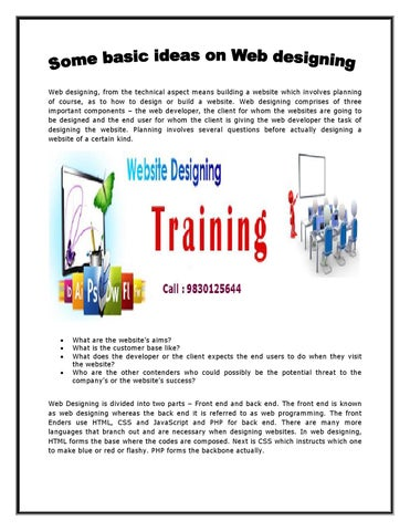 Website Designing Training Center In Kolkata By Ejob India Issuu