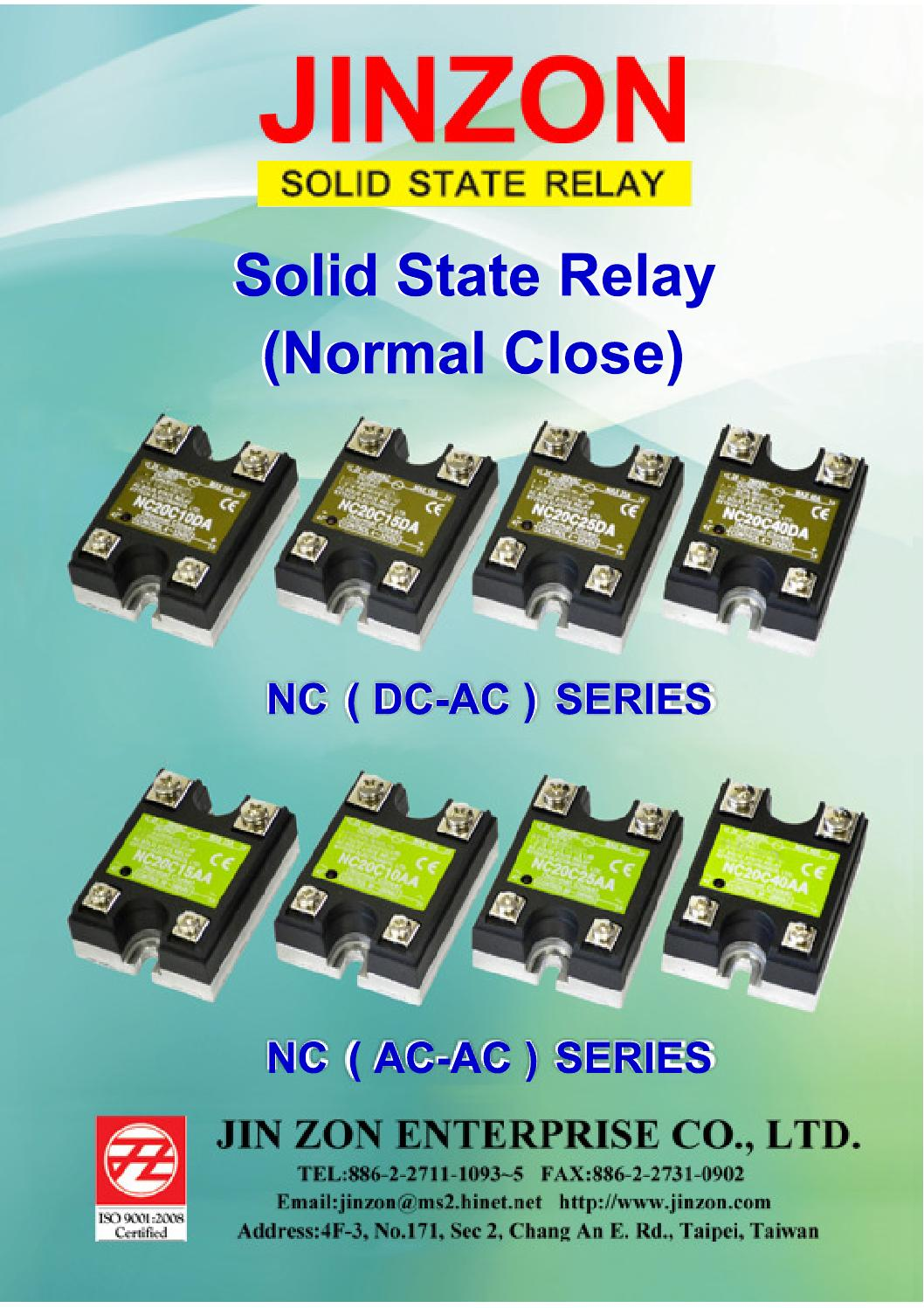 Ssr Normal Close By Jin Zon Enterprise Coltd Issuu Solid State Relay Taiwan