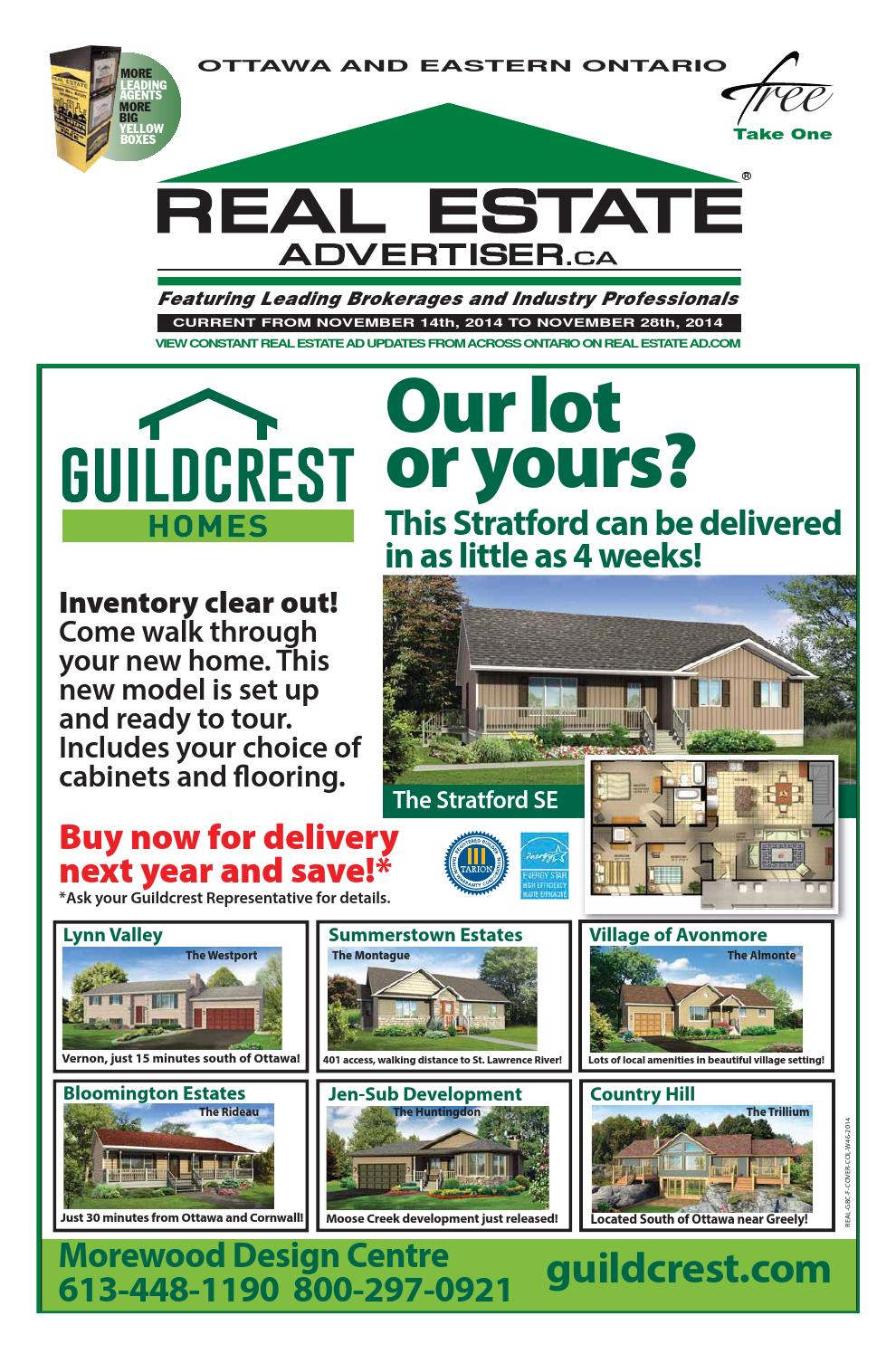 Real Estate Advertiser - Ottawa and Area - November 14, 2014 ...