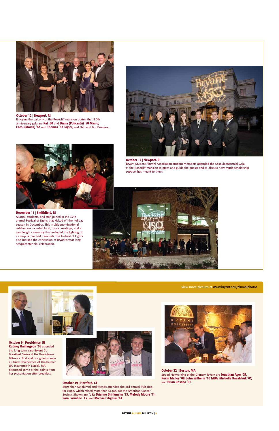 Bryant Alumni Bulletin January 2014 By Bryant University Alumni